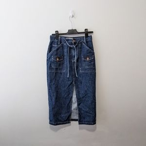 Madewell Open slit denim skirt